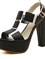 IPIEN Thick Heel Campagus Sandal (Black)