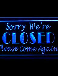 Sorry We're Closed Advertising LED Light Sign