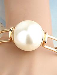 MIKI Big Pearl Metal Bracelet