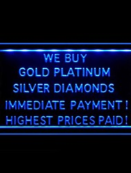 We Buy Gold High Prices Advertising LED Light Sign