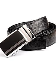 Hombres de negocios de cuero hebilla de cinturón