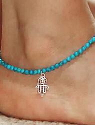 la mode shixin® résine bleue cheville élastique (1 pc)