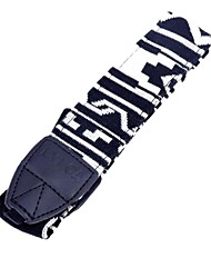 Spalla Camera Neck Strap Vintage Belt for All DSLR (Nikon Canon Sony Pentax, ecc) - Nero Bianco