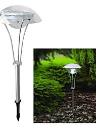 3 LED d'alimentation solaire de jardin White Outdoor Pathway Paysage Night Light