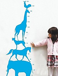 Createforlife® Cartoon Animal Pyramid Height Chart Kids Nursery Room Wall Sticker Wall Art Decals