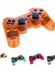 Transparente inalámbrica Bluetooth DualShock3 Sixaxis Controller Joypad recargable para PS3