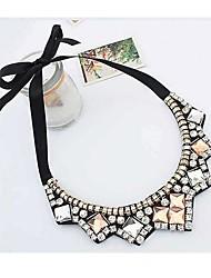 Women's Delicate Manual Alloy Set Auger Necklace