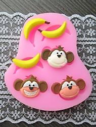 singe banane cuire gâteau fondant au moule, l7.4cm * w6.2m * h1.2cm