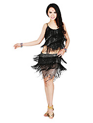 Dancewear Women's Polyster With Tassel Latin Dance Outfit