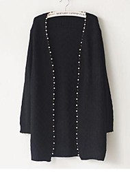 Women's Loose Slim Pearl Edge Knitting Sweater