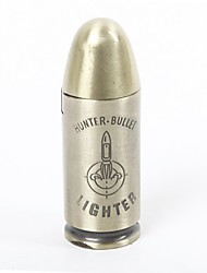 Creative Bullet Style Windproof  Metal  Butane Jet Gas Lighter
