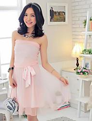 doce princesa vestido sem mangas simples da mulher