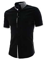 ManMax Men'S Fashion Flower Neck Shirt