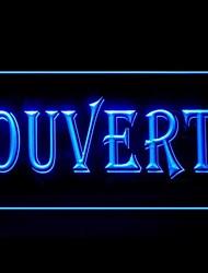 Ouvert Открыть Реклама светодиодные Вход