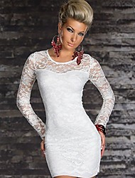 Topro Long Sleeve Bodycon Lace Dress