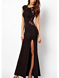 Michaela Lace Split Dress