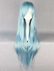 Pelucas de Cosplay Sword Art Online Asuna Yuuki Azul Largo Animé Pelucas de Cosplay 85 CM Fibra resistente al calor Mujer