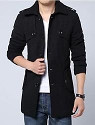Men's Long Sleeve Trench coat , Tweed Pure