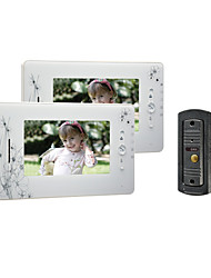 7 pouces TFT LCD couleur 420 lignes Video Door Phone avec 1 à 2