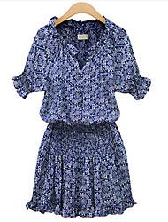 Robes ( Polyester ) Informel/Soirée/Travail Sans manche