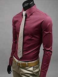 lesen Männer nehmen Süßigkeiten Farbe Casual Langarm Shirt o