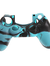 Case Skin 2pcs camuflagem protetora de silicone para PS4 Controlador