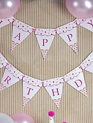 joyeux anniversaire partie traction drapeau (plus de couleurs)