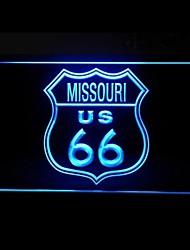 Маршрут 66 США Миссури Реклама светодиодные Вход