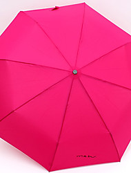 Men's and Women's Candy Color Sunny and Raining Umbrella