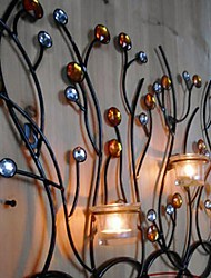 Metal Wall Art Wall Decor Romantic Candle Wall Decor Three Color Optional