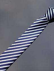 xinclubna ® marinha poliéster branco listrado dos homens impressos finos laços 5cm (1pc)