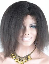 """Fashion Style TrustWigs ® 7A Grade piena del merletto parrucca diritta crespa 10 """"Hair Virgin Con cuticole intatto e Allinea nella stessa direzione"""