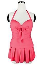 YIHAIQIJI Frauen reizvolle dünne Push-Up Teddy Bademode Rückenfrei Falten-Muster mit Boxer-Unterhose-Halter-Badeanzug