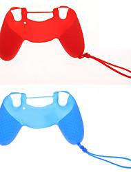 2pcs Neues Design Schutzmaßnahmen Silikon Skin mit Kette für PS4-Controller