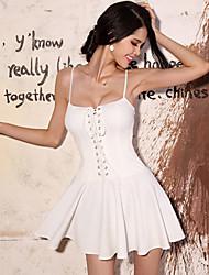 BLK Sexy Strapless Strap-Schwingen Kurz süßes Kleid