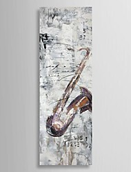 Hand Painted Oil Painting Still Life Saxophone with Stretched Frame