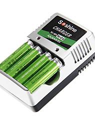 carregador de bateria para Soshine aa/aaa/9v/ni-mh/ni-cd com au plugue (incluído 4xAA)