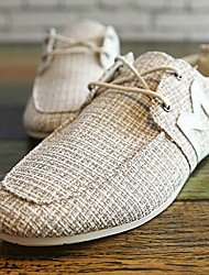 Zapatos de Hombre - Sneakers a la Moda - Casual - Tela - Gris / Beige