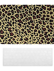 Yellow Leopard Grain Design PC Hard Case with Keyboard Cover Skin for MacBook Retina