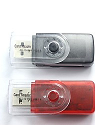 2.0 Card Reader rotation 4-en-1 USB pour MS/M2/SD/MicroSD carte