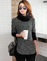 Medium - Langarm - Pullover - Baumwoll-Mischung )