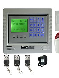 Quad Band GSM Wireless Wired Home Burglar Security Alarm System Touch keypad