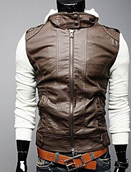 Men's Hoodie Contrast Color Sheath Jacket