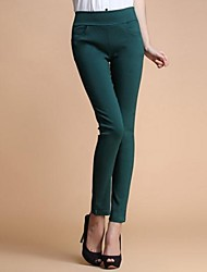 Women's Bodycon/Work Skinny Pants , Spandex/Organic Cotton Micro-elastic
