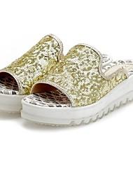 Frauenplattform Slide Hausschuhe Wiht Pailletten Schuhe (weitere Farben)