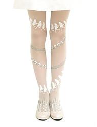 Activo Pattern White Girl Dancing Girls poliéster Classic Lolita Medias