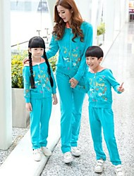 Family's Fashion Contracted  Mother Daughter Mother And Son Long Sleeve Sport Clothing Sets