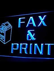 факс печатной рекламы привело свет знак