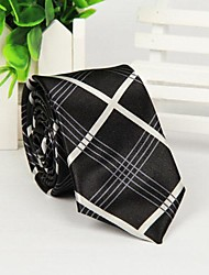 preto e branco cruzado oblíquo impressão tarja gravata moda masculina