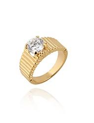 Unisex's Fashion Unique Design 18K Gold Zircon Ring